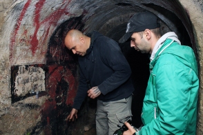 Leon Šurbanović i Slavomir Kiš Kišfalubac na Đavoljoj raskrsnici.