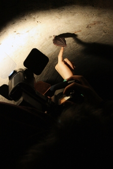 Slepi miš u tunelima.
